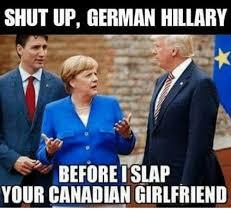 Meme Shut Up - shut up german hillary before islap your canadian girlfriend meme