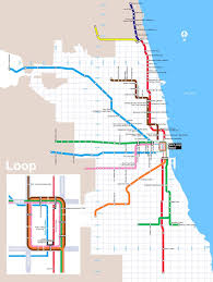 Chicago Redline Map by Cta Coffee Map