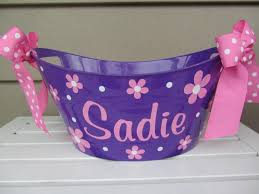 personalized easter buckets easter basket themes time for the holidays