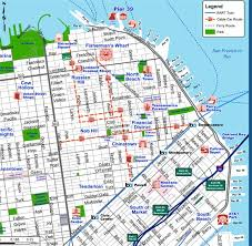 san francisco map san francisco tourist map downtown
