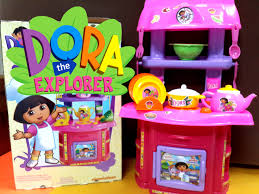 new dora cartoon full english kitchen pretend playset toys review