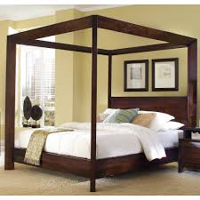wood canopy bed frame home design