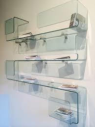foulard mensola vetro curvato trasparente design studio klass