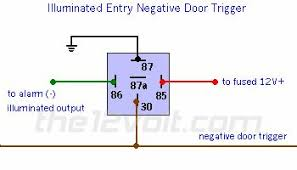 wire diagram negative door trigger relay with fade negative