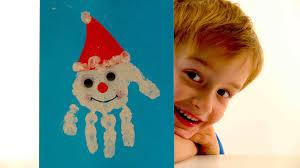 сhristmas crafts for kids handprint santa card christmas cards