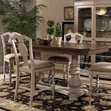 fairmont dining room sets rocky point wood rectangular gathering table in beechnut clay