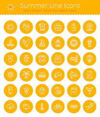 design lines font summer line icon pack free vector eps download just creative