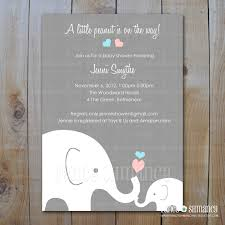 printable elephant baby shower invitations afoodaffair me