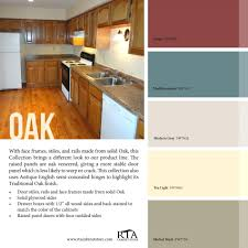 color palette to go with our oak kitchen cabinet line guide for