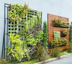 urban vertical vegetable garden with modern planters wonderful