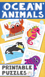 ocean animals printable puzzles for kids itsy bitsy fun