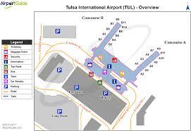 tulsa airport map tulsa tulsa international tul airport terminal maps