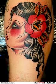 old gypsy head tattoo