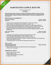 Babysitter Resume Sample by 5 Babysitting On Resume Nypd Resume
