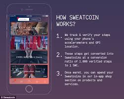 sweatcoin app rewards people for the number of steps they make
