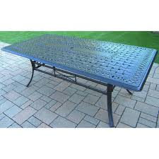 black rectangular patio dining table oakland living hton aluminum rectangular patio dining table