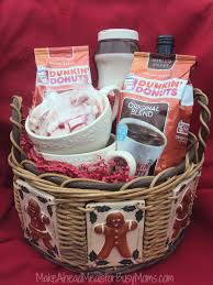 coffee gift baskets dunkin donuts coffee gift basket dunkintotherescue make ahead