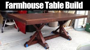 How To Make Your Own Dining Room Table by Farmhouse Table Build Cmrw 36 Youtube