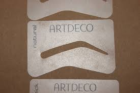 art deco eye brow stencil kit review the sunday