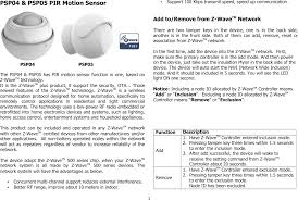 can you put a motion sensor on any light psp05 z wave motion sensor user manual users manual philio