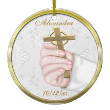 Baptism Ornaments Christening Religious Baptism Ornaments U0026 Keepsake Ornaments Zazzle