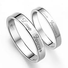 promise rings silver images S925 sterling silver mens ladies couple promise ring wedding bands jpg