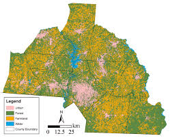 Map Of Charlotte Urban Growth And Land Change Modeling Center For Applied