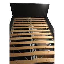 black wood full size bed frame aptdeco