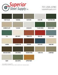 Berridge Metal Roof Colors by Fabral Metal Roof Color Chart