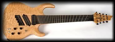 9 string fanned fret custom shop quilt top fanned fret sidewinder 8 string guitar