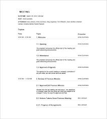 18 meeting agenda templates free sample example format free