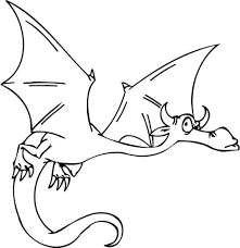 suspicious flying dragon coloring free printable coloring pages