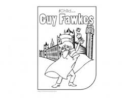 guy fawkes colouring picture remember remember 5th