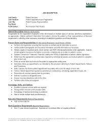 Customer Service Representative Resume Patient Service Representative Resume Examples Template