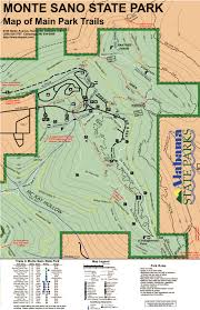 Green Ridge State Forest Camping Map by The Monte Sano Trail Guide Huntsville Outdoors
