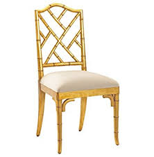 Gold Dining Chairs Chippendale Regency Gold Bamboo