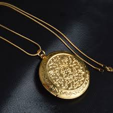 elegant pendant necklace images Patico luxury gold jewelry cute round memory photo frame case jpg