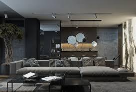 wohnzimmer modern grau wohnzimmer in grau und schwarz gestalten 50 wohnideen