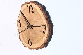 oak clock unique wall clocks wall clock wood wooden slices
