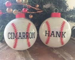 baseball ornaments etsy