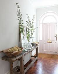 Upcycled Console Table Natural Minimalist Narrow Hallway Decoration Ideas Traditional