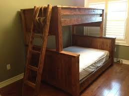 Reclaimed Hemlock Bunk Bed Single Top Double Below Reclaimed - Double top bunk bed