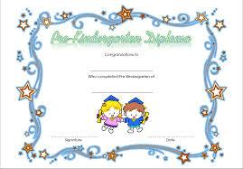 kindergarten certificates pre kindergarten diploma certificate 3 professional and high