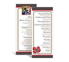 tea length wedding program wedding tea length programs 3 625 x 8 875 customizable wedding