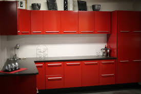 red cabinets in kitchen glamour red kitchen cabinets u2013 the new