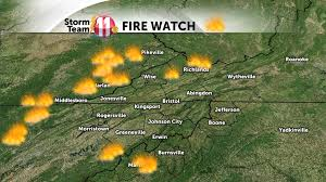 Map Tennessee Smoke Continues Across The Region Tonight As Wildfires Continue To