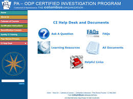 odp announcement certified investigator manual and report update pdf