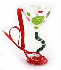 ganz mini martini glass ornament eat drink be merry