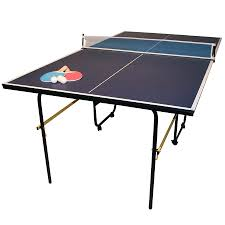 collapsible table tennis table charles bentley 3 4 junior folding table tennis table 6ft9 bats