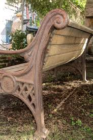 cast iron bench with lion head arms iron bench garden furniture